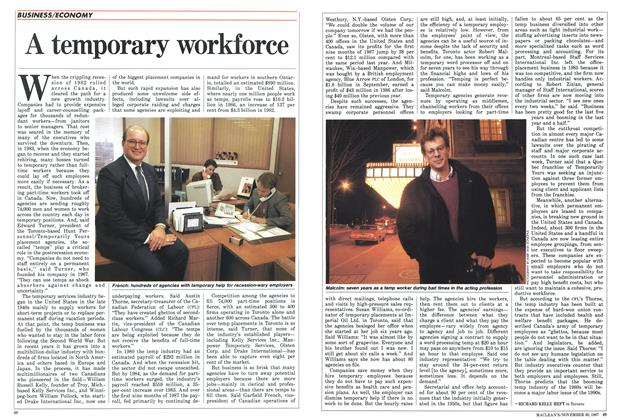 Article Preview: A temporary workforce, November 1987 | Maclean's