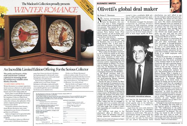 Article Preview: Olivetti's global deal maker, November 1987 | Maclean's