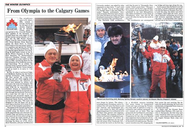 Article Preview: From Olympia to the Calgary Games, November 1987 | Maclean's
