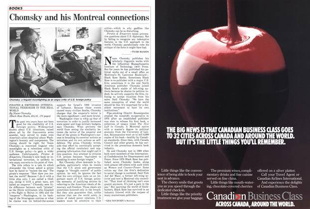 Article Preview: Chomsky and his Montreal connections, November 1987 | Maclean's