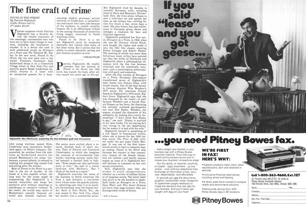 Article Preview: The fine craft of crime, November 1987 | Maclean's