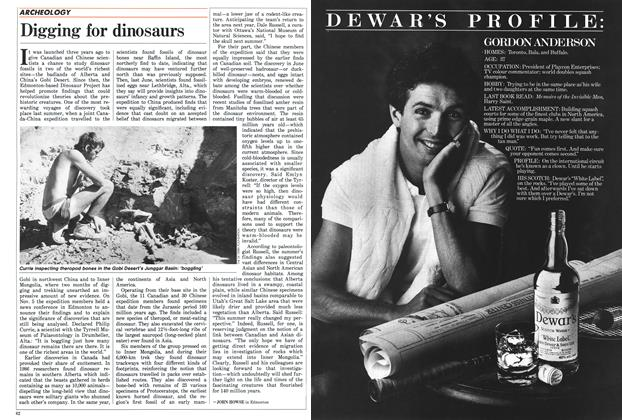 Article Preview: Digging for dinosaurs, November 1987 | Maclean's