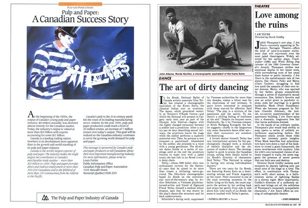 Article Preview: The art of dirty dancing, November 1987 | Maclean's