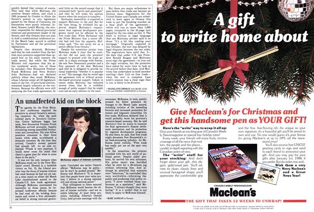 Article Preview: An unaffected kid on the block, December 1987 | Maclean's