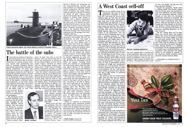 Article Preview: A West Coast sell-off, December 1987 | Maclean's