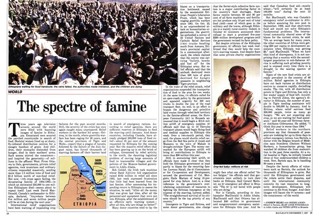 Article Preview: The spectre of famine, December 1987 | Maclean's