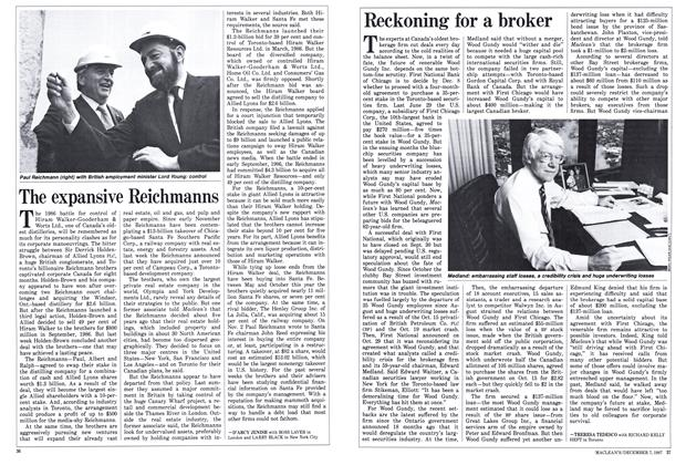 Article Preview: Reckoning for a broker, December 1987 | Maclean's