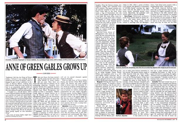 Article Preview: ANNE OF GREEN GABLES GROWS UP, December 1987 | Maclean's