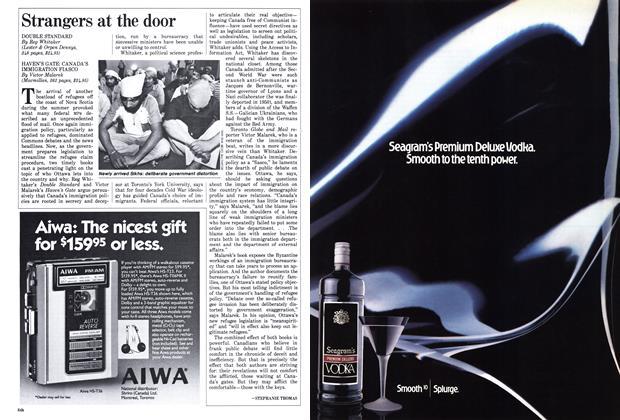 Article Preview: Strangers at the door, December 1987 | Maclean's