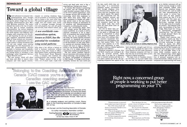 Article Preview: Toward a global village, December 1987 | Maclean's