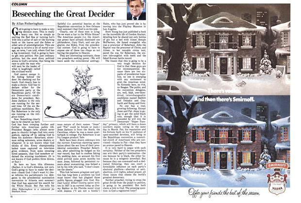 Article Preview: Beseeching the Great Decider, December 1987 | Maclean's