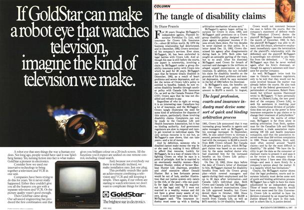 Article Preview: The tangle of disability claims, December 1987 | Maclean's