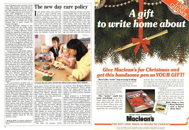Article Preview: The new day care policy, December 1987 | Maclean's