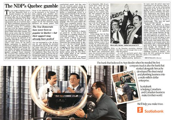 Article Preview: The NDP's Quebec gamble, December 1987 | Maclean's