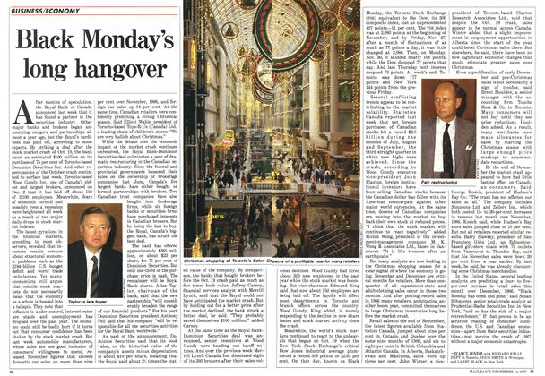 Article Preview: Black Monday's long hangover, December 1987 | Maclean's