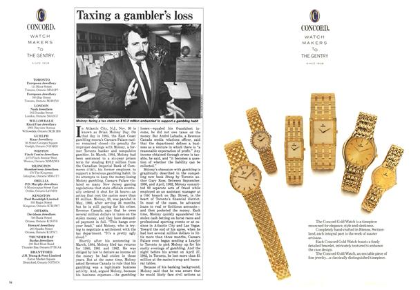 Article Preview: Taxing a gambler's loss, December 1987 | Maclean's