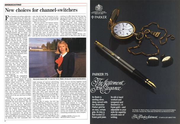 Article Preview: New choices for channel-switchers, December 1987 | Maclean's