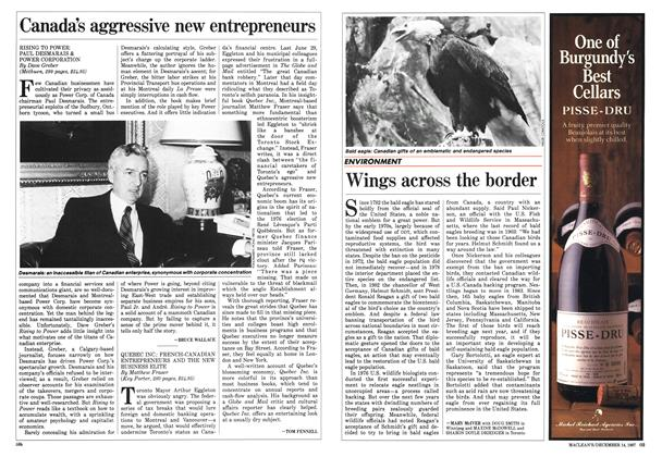 Article Preview: Wings across the border, December 1987 | Maclean's