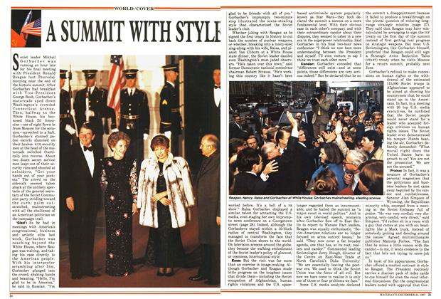 Article Preview: A SUMMIT WITH STYLE, December 1987 | Maclean's