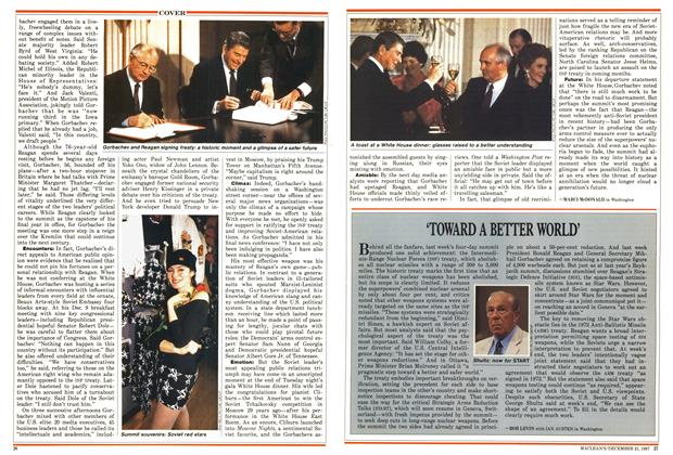 Article Preview: 'TOWARD A BETTER WORLD', December 1987 | Maclean's