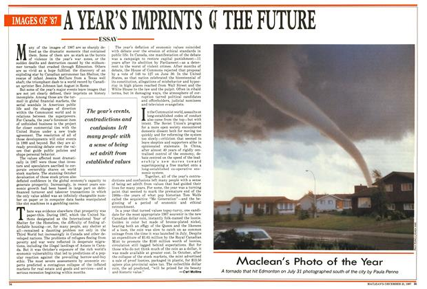 Article Preview: A YEAR'S IMPRINTS ON THE FUTURE, December 1987 | Maclean's