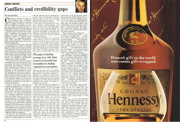 Article Preview: Conflicts and credibility gaps, December 1987 | Maclean's