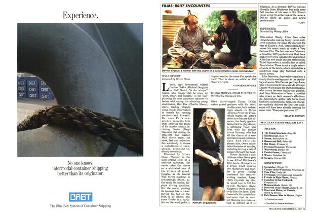Article Preview: SEPTEMBER, December 1987   Maclean's