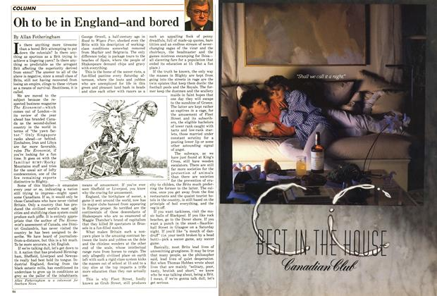 Article Preview: Oh to be in England—and bored, December 1987 | Maclean's