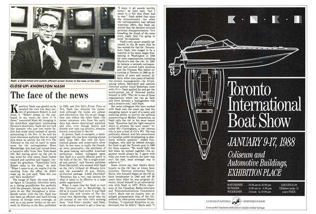 Article Preview: The face of the news, December 1987 | Maclean's