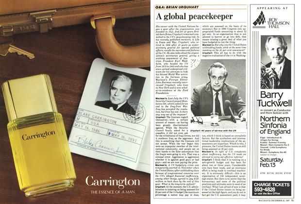 Article Preview: A global peacekeeper, December 1987 | Maclean's