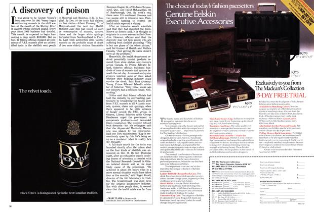 Article Preview: A discovery of poison, December 1987   Maclean's