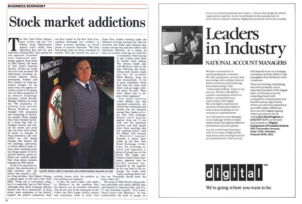 Article Preview: Stock market addictions, January 1988 | Maclean's