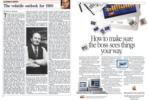 Article Preview: The volatile outlook for 1988, January 1988 | Maclean's