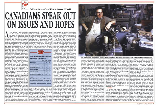 Article Preview: CANADIANS SPEAK OUT ON ISSUES AND HOPES, January 1988 | Maclean's