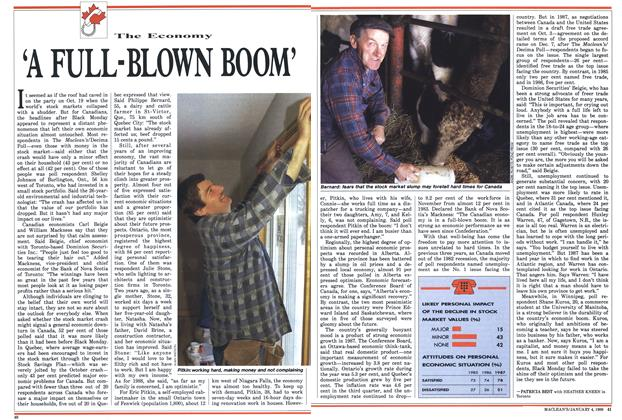 Article Preview: 'A FULL-BLOWN BOOM', January 1988 | Maclean's