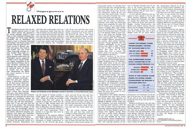 Article Preview: RELAXED RELATIONS, January 1988 | Maclean's