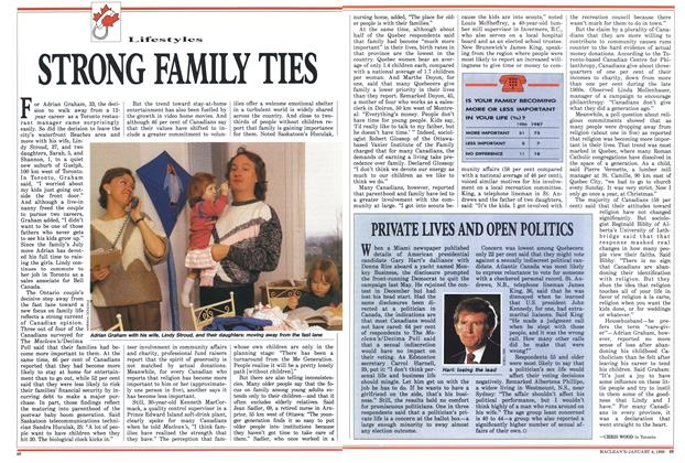 Article Preview: PRIVATE LIVES AND OPEN POLITICS, January 1988 | Maclean's