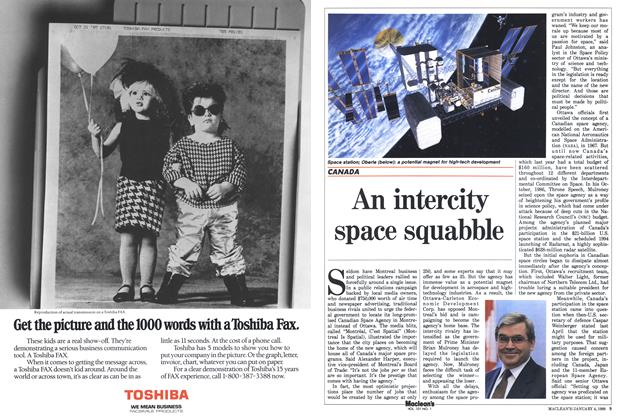 Article Preview: An intercity space squabble, January 1988 | Maclean's