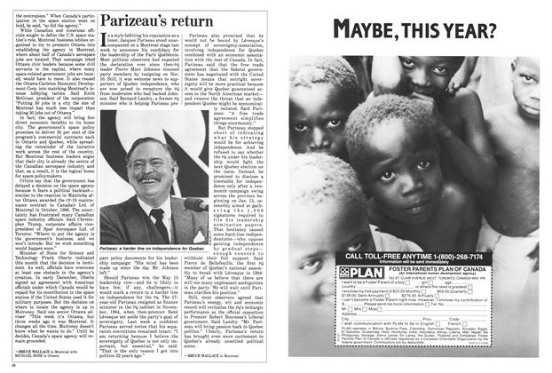 Article Preview: Parizeau's return, January 1988 | Maclean's