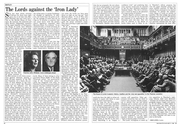 Article Preview: The Lords against the 'Iron Lady', January 1988 | Maclean's