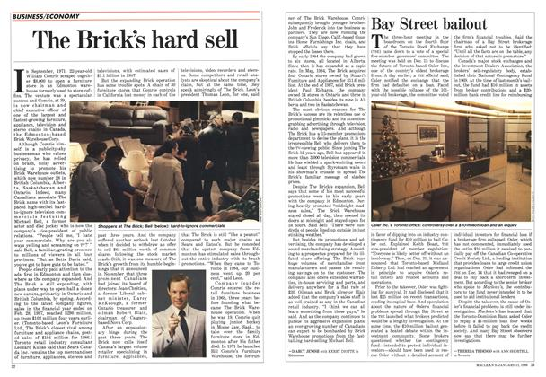 Article Preview: The Brick's hard sell, January 1988 | Maclean's