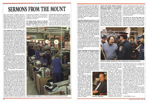 Article Preview: SERMONS FROM THE MOUNT, January 1988 | Maclean's