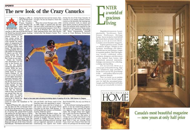 Article Preview: The new look of the Crazy Canucks, January 1988 | Maclean's