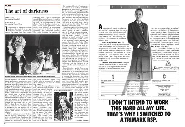 Article Preview: The art of darkness, January 1988 | Maclean's