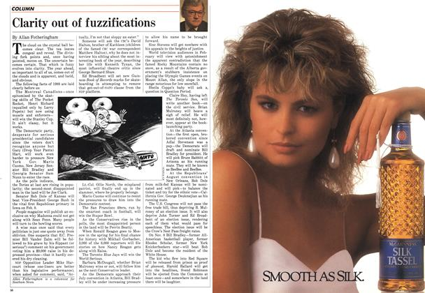 Article Preview: Clarity out of fuzzifications, January 1988 | Maclean's