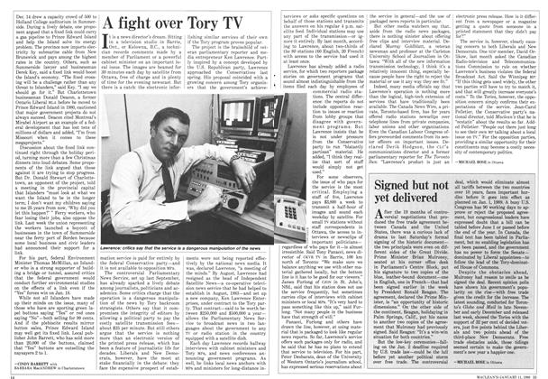 Article Preview: A fight over Tory TV, January 1988 | Maclean's