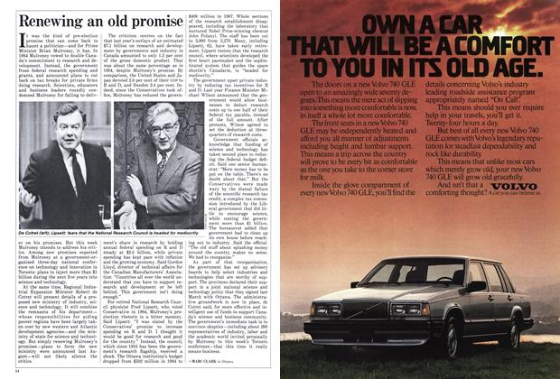 Article Preview: Renewing an old promise, January 1988 | Maclean's