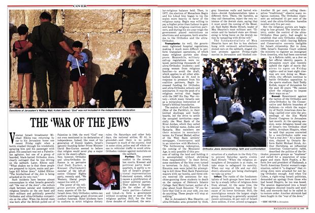 Article Preview: THE 'WAR OF THE JEWS', January 1988 | Maclean's