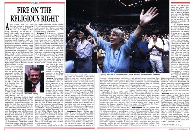 Article Preview: FIRE ON THE RELIGIOUS RIGHT, January 1988 | Maclean's