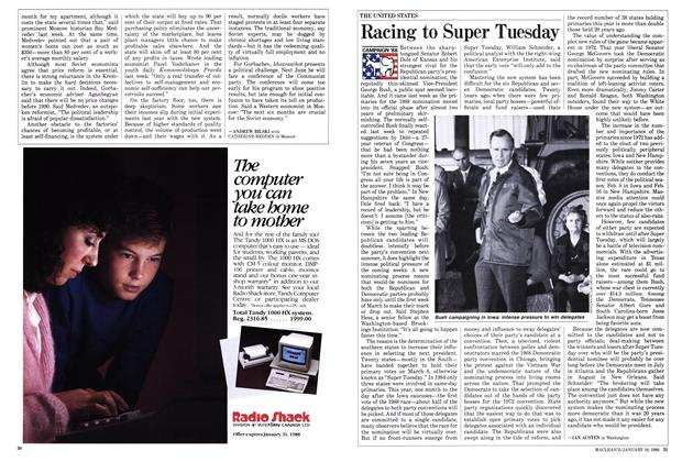 Article Preview: Racing to Super Tuesday, January 1988 | Maclean's